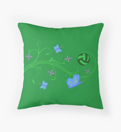 Volleyball in Springtime Throw Pillow