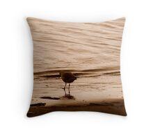 Dark & Gloomy Gull Throw Pillow