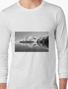 Alaska Reflections Black & White Long Sleeve T-Shirt