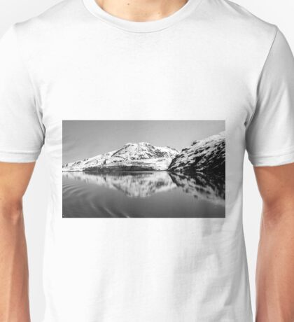 Alaska Reflections Black & White Unisex T-Shirt