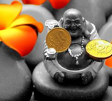 Buddha with coins by franceslewis
