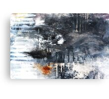 Black and White Abstract Print  Canvas Print
