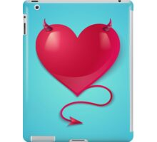 heart with tail and horns iPad Case/Skin