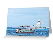 Cozumel Excursion Boats Greeting Card