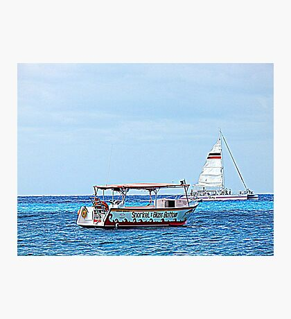 Cozumel Excursion Boats Photographic Print