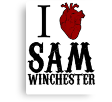 Anatomical Love - Sam Winchester Canvas Print