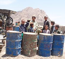 Barrel Boys, Panjwai, Afghanistan by Martina Nicolls