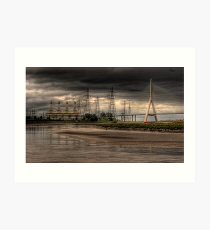 Connah's Quay Power Station and the Dee Bridge Art Print