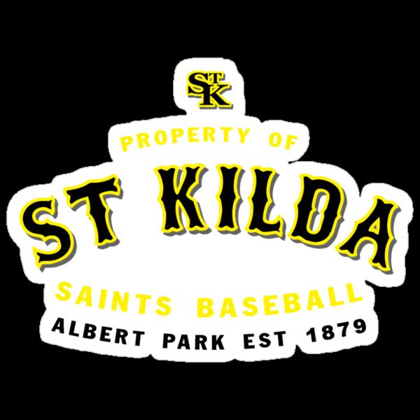 Property of St Kilda Baseball Club T-shirt Red by St Kilda Baseball Club
