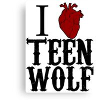 Anatomical Love - Teen Wolf Canvas Print