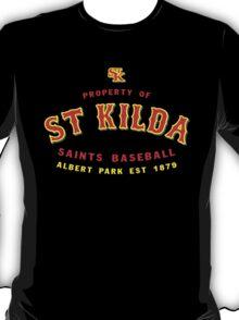 Property of St Kilda Baseball Club T-shirt Black/Grey/Charcoal/White T-Shirt