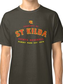Property of St Kilda Baseball Club T-shirt Black/Grey/Charcoal/White Classic T-Shirt