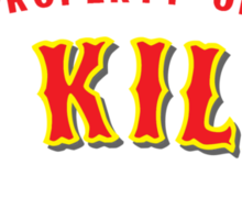 Property of St Kilda Baseball Club T-shirt Black/Grey/Charcoal/White Sticker