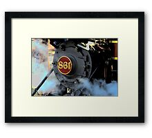 Engine 861 Ready To Ride The Rails Framed Print