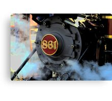 Engine 861 Ready To Ride The Rails Canvas Print