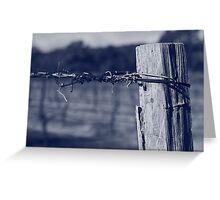 Winter vineyard Greeting Card