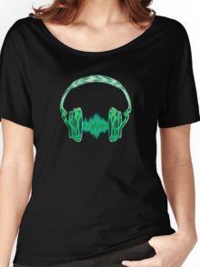 Headphone, Music, Disco, Dance, Electro, Trance, Techno, Wave, Pulse,  Women's Relaxed Fit T-Shirt
