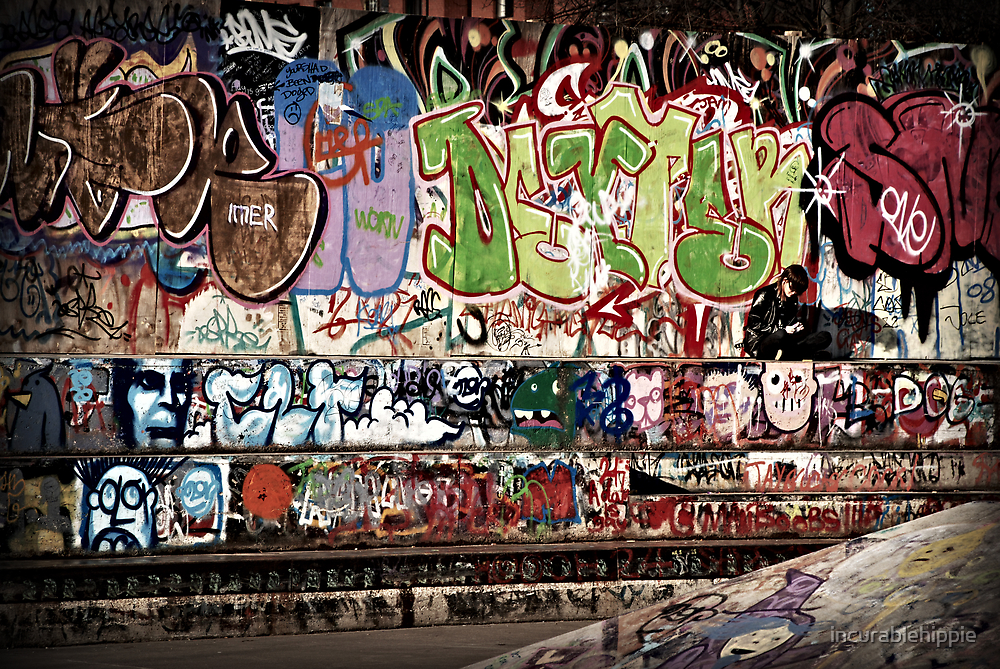 Look At Me: The Girl in the Graffiti by incurablehippie