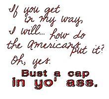 Bayonetta Bust a Cap Photographic Print