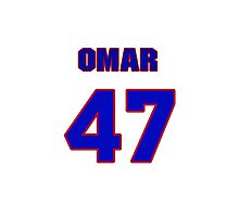 National baseball player Omar Daal jersey 47 Photographic Print