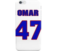 National baseball player Omar Daal jersey 47 iPhone Case/Skin