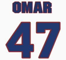 National baseball player Omar Daal jersey 47 by imsport