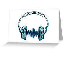 Headphone, Music, Disco, Dance, Electro, Trance, Techno, Wave, Pulse,  Greeting Card