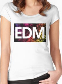 EDM Women's Fitted Scoop T-Shirt