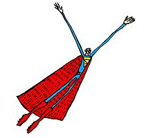 Paul Friedrich- Superman Flying Photographic Print