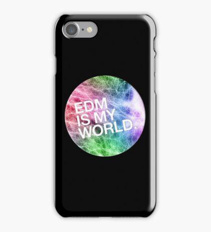 EDM  Is My World iPhone Case/Skin