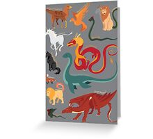 Myths and Monsters Greeting Card
