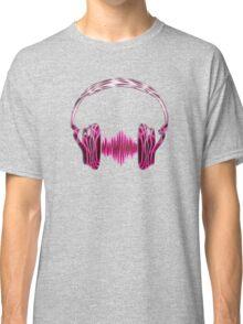 Headphone, Music, Disco, Dance, Electro, Trance, Techno, Wave, Pulse,  Classic T-Shirt