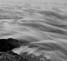 Silken sea and rocks, Lorne, 2008 by Ashley Ng