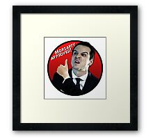 Moriarty Approved! Framed Print