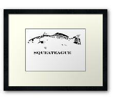 weakfish. Framed Print