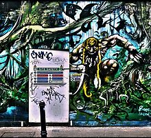 Urban jungle- street art in Camden by Tim Constable