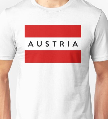 flag of austria Unisex T-Shirt