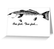 red fish. Greeting Card