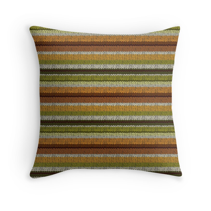 Yellow Brown Throw Pillows :