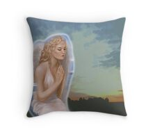Angel with a halo Throw Pillow
