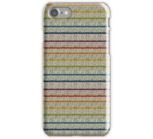 Knitted Pattern Set 10 - Stripes Rainbow 1 iPhone Case/Skin