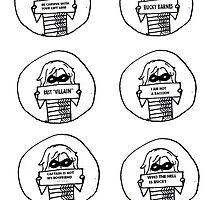 Set of 6 Bucky drawings by kryzanty