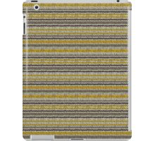 Knitted Pattern Set 11 - Stripes Yellow/Grey iPad Case/Skin