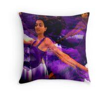 Dance of the Purple Veil Throw Pillow