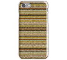 Knitted Pattern Set 12 - Stripes Yellow/Orange/Brown iPhone Case/Skin