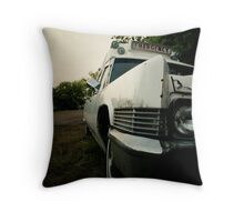 Ghostbuster's Ambulance Throw Pillow