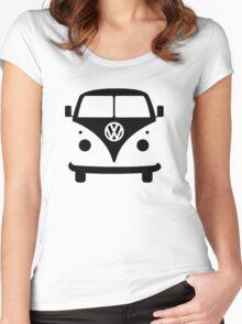 VW splittie bus outline Women's Fitted Scoop T-Shirt