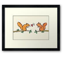 Tickle Tickle Little Squirrel Framed Print