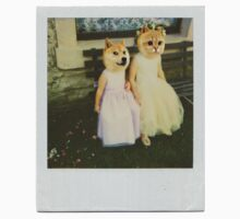 Polaroid doge and cat meme Kids Clothes