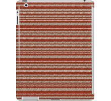 Knitted Pattern Set 14 - Red/White iPad Case/Skin